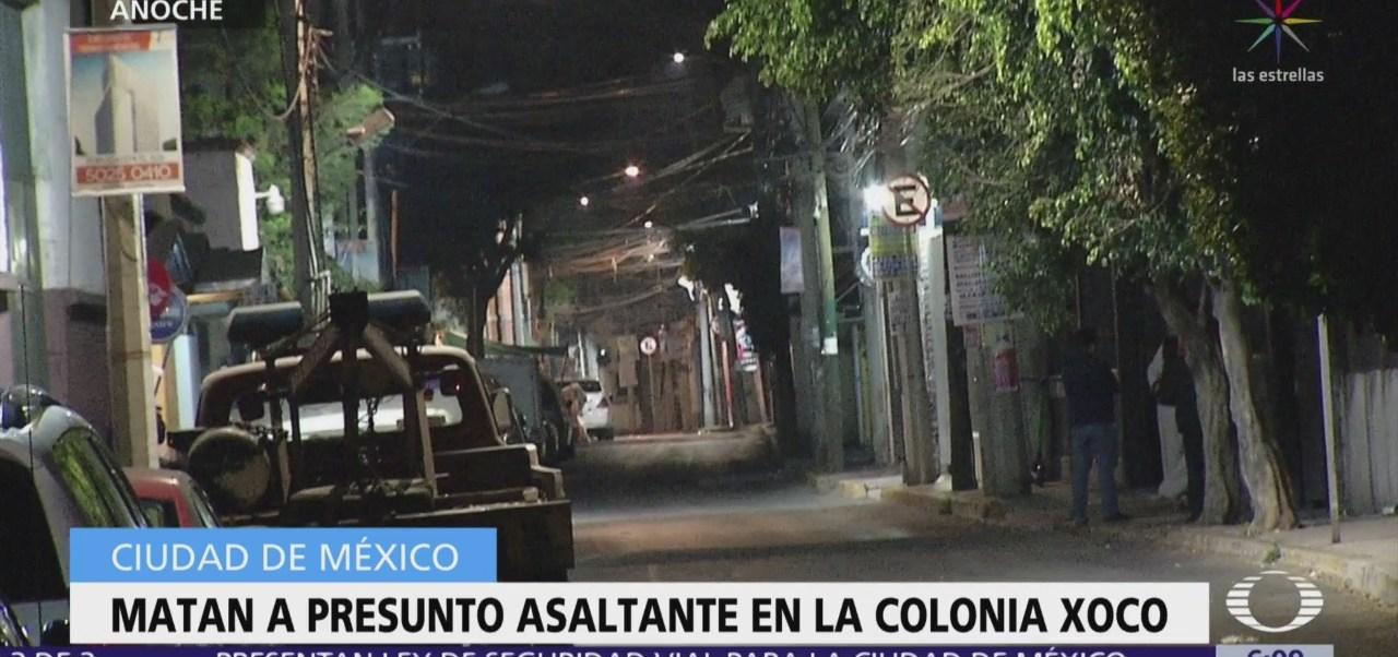 Matan a presunto asaltante en la colonia Xoco, CDMX