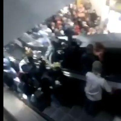 Accidente en escaleras eléctricas del Metro en Tacubaya deja 2 heridos