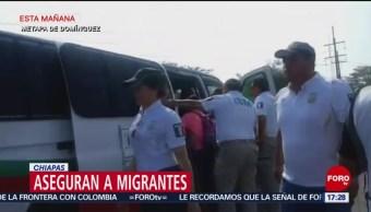 Foto: Migración detiene a 110 personas en Chiapas