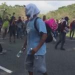 Foto: Migrantes Atacan Personal Migración Chiapas 20 de Febrero 2019
