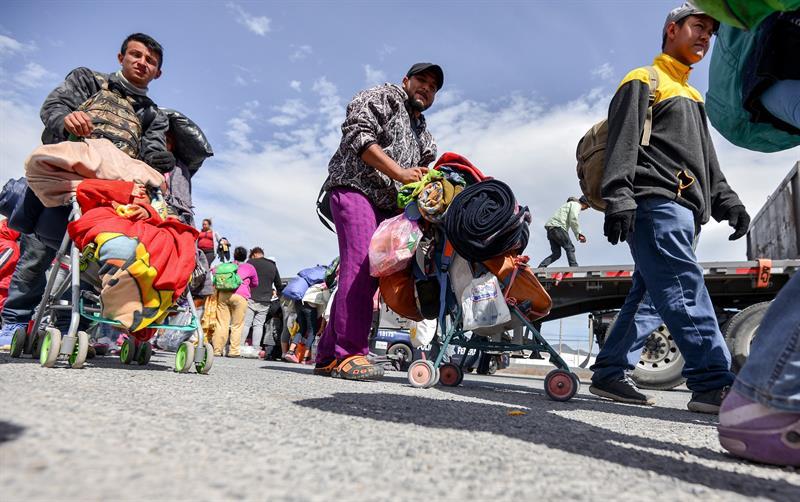 Foto: Migrantes llegan a albergues en Coahuila, 3 de febrero 2019. EFE
