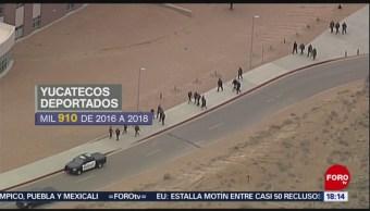Foto: Migrantes yucatecos, deportados desde Estados Unidos
