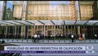 Moody´s ve presiones en perspectiva de calificación sobre México