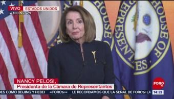 Foto: Nancy Pelosi habla a la prensa a horas de un posible cierre del gobierno