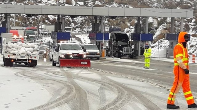 Foto: Se registra nevada en La Rumorosa, Baja California, 21 de febrero 2019. Twitter @tecateinforma