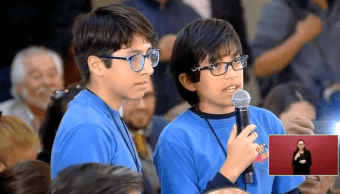 Niños reporteros cuestionan a AMLO por desaparecidos