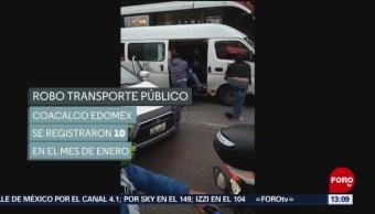 Fotos: Operativos contra robo a transporte público en Coacalco