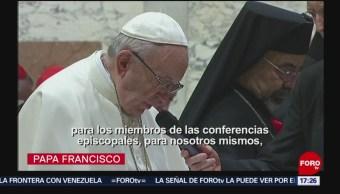 FOTO: Papa Francisco exhorta a Iglesia a admitir sus pecados, 23 febrero 2019