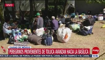Foto: Peregrinos de Toluca avanzan hacia la Basílica
