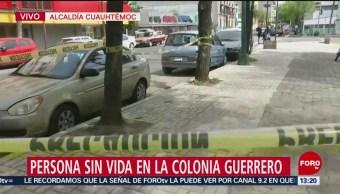Fotos: Persona pierde la vida por infarto en la colonia Guerrero