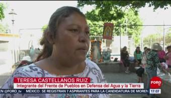 FOTO: Pobladores rechazan consulta en Huexca, Morelos, 23 febrero 2019