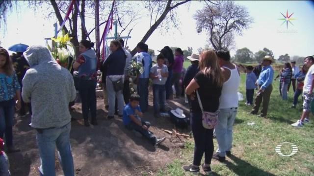 Foto: Pobladores Recuerdan Víctimas Tlahuelilpan 18 de Febrero 2019