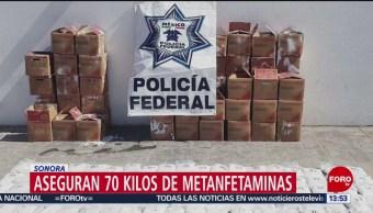 Foto: Policías interceptan metanfetamina en Sonora