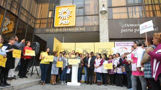 Foto: PRD recibe y respalda a trabajadoras de Estancias Infantiles 12 febrero 2019