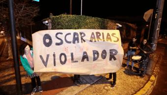 Foto: Letrero contra Óscar Arias en Costa Rica, 8 de febrero de 2019, San José