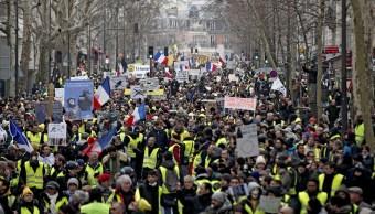 Foto: Miles de manifestantes protestan en París convocados por los 'chalecos amarillos', 2 febrero 2019