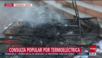 FOTO: Queman casilla del municipio Temoac, Morelos, 23 febrero 2019