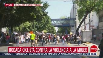 FOTO: Realizan rodada ciclista contra violencia a mujeres en CDMX, 10 febrero 2019