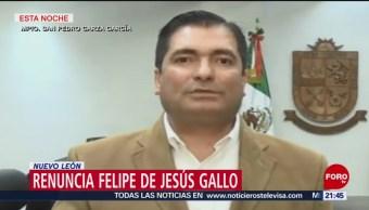 FOTO: Renuncia el secretario de seguridad pública de San Pedro Garza García, NL, 23 febrero 2019