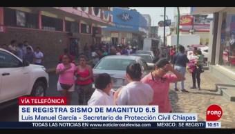 Reportan crisis nerviosas en Chiapas por sismo de magnitud 6.5
