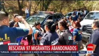 Rescatan a 97 migrantes centroamericanos carretera de Tuxtla Gutiérrez