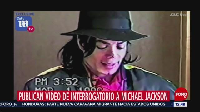 Revelan video de interrogatorio a Michael Jackson