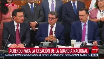 Ricardo Monreal se pronuncia sobre acuerdo del Senado para Guardia Nacional