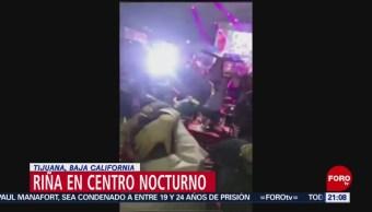 FOTO: Riña en centro nocturno de Tijuana, Baja California, 16 febrero 2019