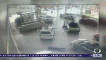 Roban a clientes dentro de agencia de automóviles en Guanajuato