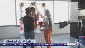Bodas ficticias en la Torre Latinoamericana de CDMX