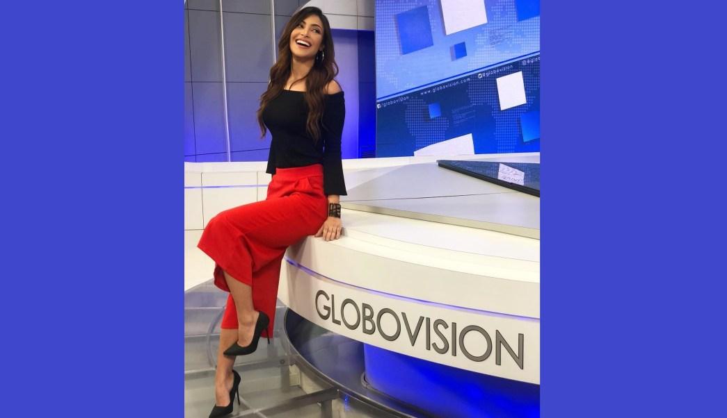 foto sasha lopez conductora globovision venezuela 6 julio 2018