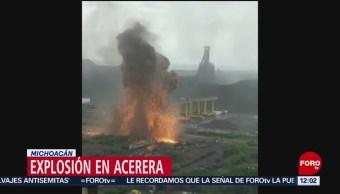 Se registra explosión en acerera de Michoacán