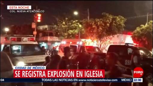 FOTO: Se registra explosión por pirotecnia en iglesia de la GAM, 2 febrero 2019