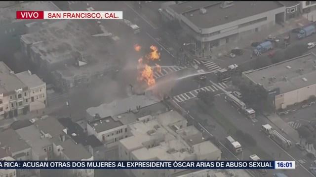 Foto: Se registra incendio tras explosión por fuga de gas en San Francisco