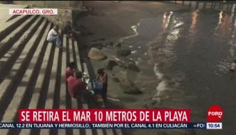 FOTO: Se retira el mar 10 metros de las playas de Acapulco, 17 febrero 2019