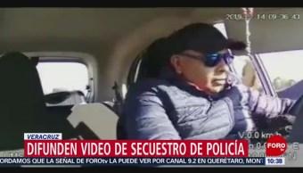 Secuestran a supuesto policía en Veracruz