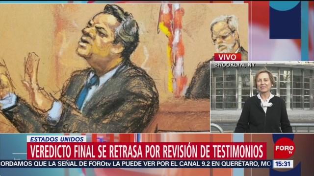 Foto: Segundo día de deliberación de jurado de 'El Chapo' Guzmán