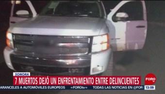 Foto: Siete muertos en enfrentamiento en Sonora