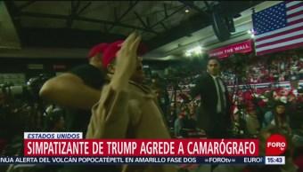 Foto: Simpatizante de Trump agrede a camarógrafo en Texas