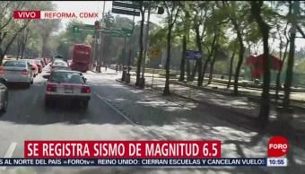 Sismo de magnitud 6.5 se percibe en Puebla