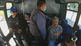 Foto: Policías Vigilan Transporte Público Iztapalapa 21 de Febrero 2019