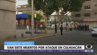 Sube a siete cifra de muertos por ataque en Culhuacán, Iztapalapa