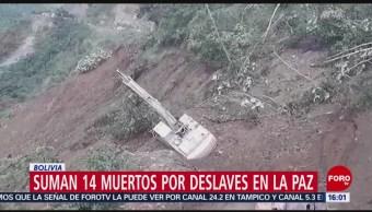 FOTO: Suman 14 muertos por deslaves en La Paz, Bolivia, 4 febrero 2019