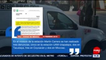 FOTO: Suman 15 denuncias por agresión a mujeres en Ciudad de México, 10 febrero 2019