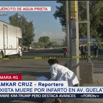 Taxista muere por infarto en avenida Guelatao, Iztapalapa