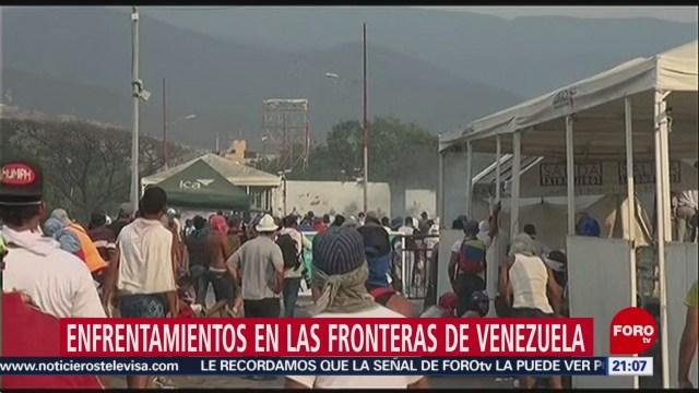 Foto: Enfrentamientos Ayuda Venezuela 20 de Febrero 2019