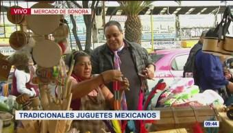 Foto: Tradicionales juguetes mexicanos en el Mercado de Sonora, en CDMX