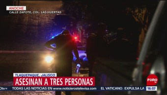FOTO: Tres hombres fueron asesinados a tiros en Tlaquepaque, Jalisco, 16 febrero 2019