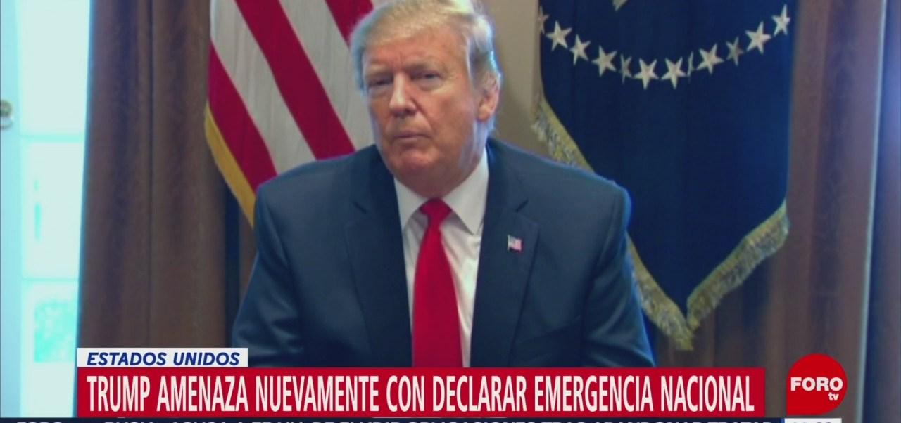Foto. Trump amenaza nuevamente con declarar emergencia nacional