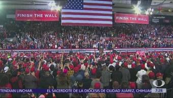 Trump realiza mitin en El Paso, protestan por su visita